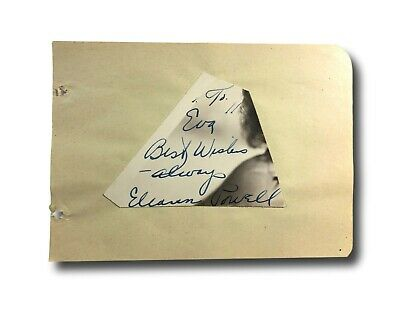 Jack Holt Autographed Album Page Popular Star Of 1940s Westerns D.51 Entertainment Memorabilia Movies