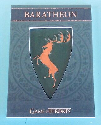 Game Of Thrones Season 4 #h2 House Of Baratheon Shield / Pin Relic 103/300