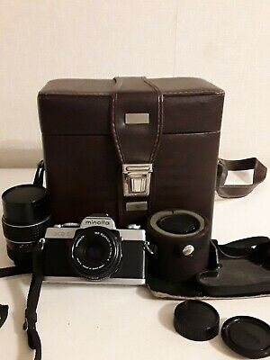 Minolta xg-1Camera & Lenses In Original Case With Papers