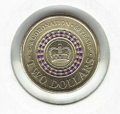 2013 $2 QUEENS CORONATION 60TH ANNIVERSARY COIN UNCIRCULATED CONDITION X 1 Coin