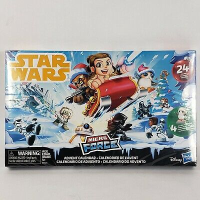 Star Wars Micro Force advent calendar 24 figures stickers Disney pop-up details