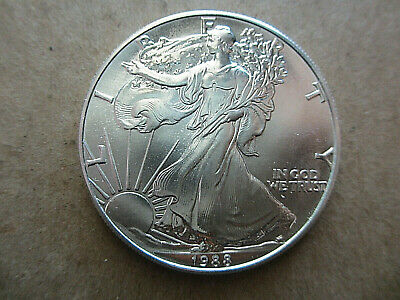 1988 Silver American Eagle Coins BU Uncirculated