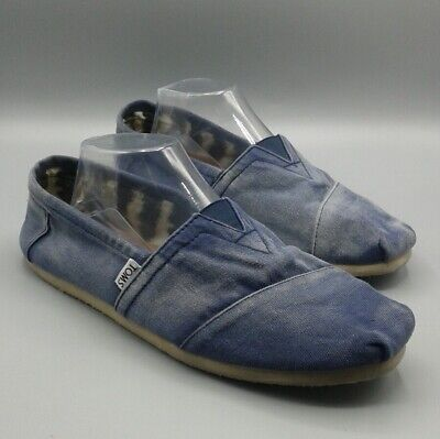 7f03f87271a TOM S - Classic Blue Chambray Denim Slip-on Casual Canvas Shoes - sz M 10