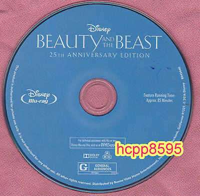 Beauty and the Beast 25th Blu-ray DVD Disc only Disney  free shipping