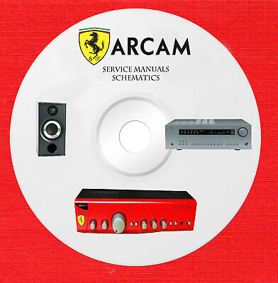 Arcam audio repair service manuals and schematics on 1 cd in pdf format