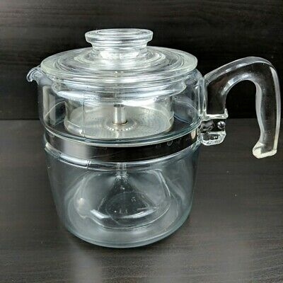 Vintage Pyrex Coffee Pot Flameware 4-6 Cup Percolator Complete 7756