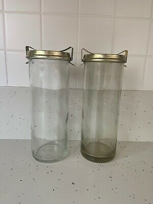 Fowlers Vacola - No. 36 Jar x2 With Lids And Clips