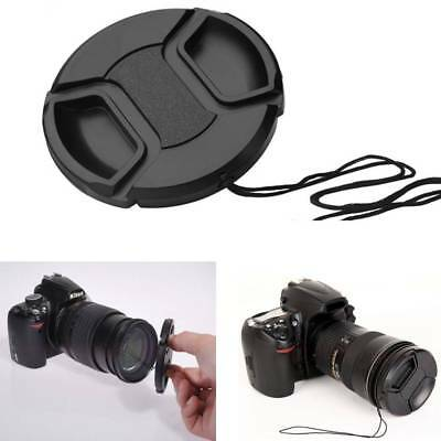 52mm Center Pinch Snap on Front Lens Cap Cover for DSLR camera Plastic