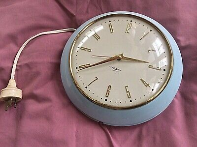 Westclox Genuine English Bakelite Electric Wall  Kitchen Clock Made in Scotland