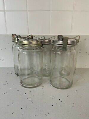 Fowlers Vacola - No. 20 Jar x5 With Lids And Clips