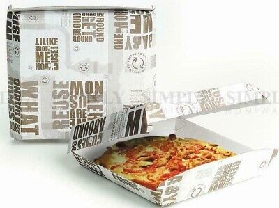 250pcs x Visy Enviroboard Pizza Gozleme Box 6'' 163mm Eco-friendly Pre-assembled