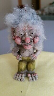 Norway Original Troll. Way Nor A/S Collectable Minature Figurine Trolls. Rare.
