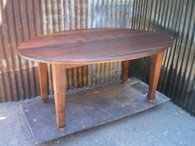 Antique Timber Oval Dining Table