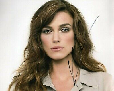 Autographed Keira Knightley signed 8 x 10 photo Hot