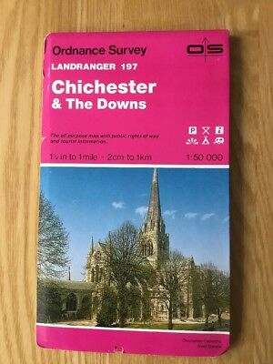 1994 Ordnance Survey Landranger Map 197 Chichester and The Downs inc Petersfield