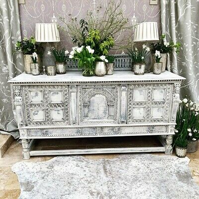 Huge Antique Victorian Carved Oak Sideboard Pictures Coming Soon