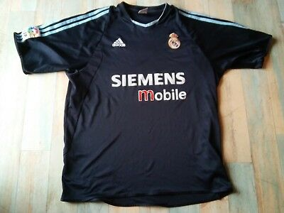 Maillot FOOT ADIDAS REAL MADRID SIEMENS MOBILE N°7 RAUL TAILLE XL/D7 BE
