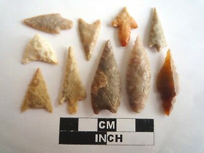 Neolithic Arrowheads x 10, High Quality Selection of Styles - 4000BC - (2135)