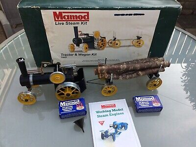 Mamod steam engine with trailer.  kit model in good condition.