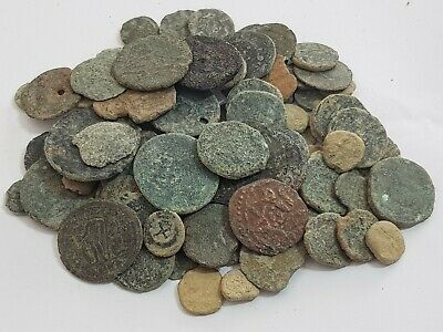 Huge Lot Of 85 Ancient Roman Bronze Coins Unsearch (Low Condition) Very Interest