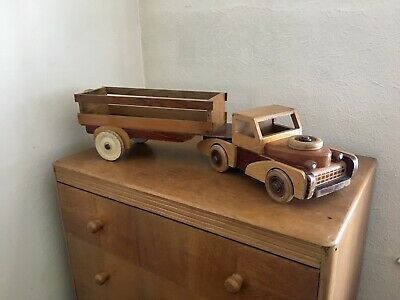 Fabulous Vintage Wooden Toy Articulated Truck Lorry 1950's