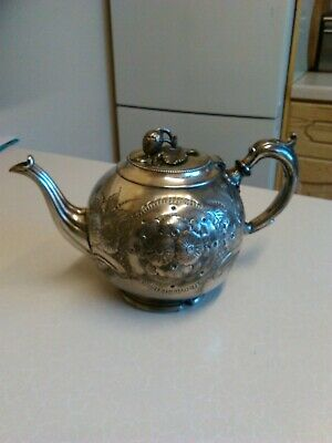 Antique Silver Plated Tea Pot by James Dixon & Sons (1906)