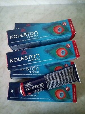 Lotto WELLA Koleston Perfect Vibrant Reds 60ml biondo scuro intenso mogano 66/55