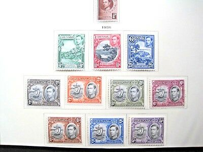 Grenada : 14 Stamps 1937 -1946 ( Mlh)