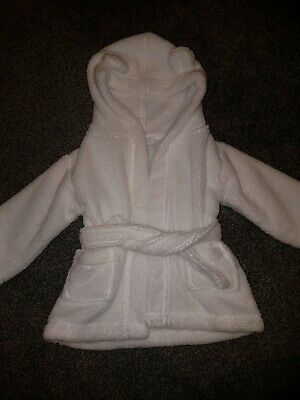 The Little White Company Baby dressing Gown/Robe 0-6 Months Boy Or Girl