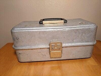 Vintage Aluminum UMCO Tackle Box - Metal Fishing Tackle Box Retro