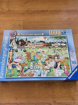 The Cricket Match ~ 1000 Piece Ravensburger Jigsaw Puzzle The Best Of British