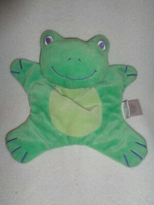 "FROG shape Green Plush 10"" Baby Security Blanket Lovey Carters Welcome to family"