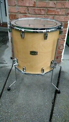 "Yamaha Stage Custom Birch 16"" x 16""  Natural Wood Floor Tom w/ Legs.....PRISTINE"