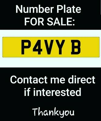 Private Number Plate / Registration Plate