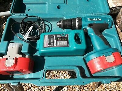 Makita 8390D Cordless Hammer Drill 18V - With 2 Batteries, Charger & Case