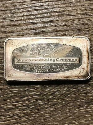 Vintage 4.57 Ounce .999 Silver Bar- The Sunshine Mining Company