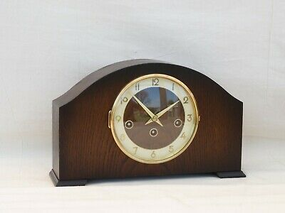 Hermle Bentima 8 Day Dark Antique Oak Westminster Mantle Mantel Chime Clock
