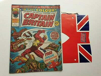 Captain Britain 1 signed Stan Lee with free gift