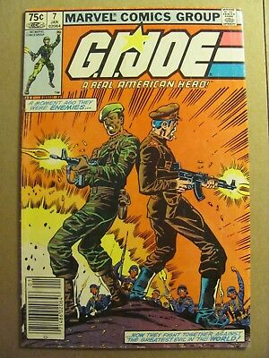 GI Joe A Real American Hero #7 Marvel 1982 Canadian Newsstand $0.75 Variant