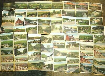 Lot of 70 Pennsylvania's Lincoln Highway Linen and White Border Postcards