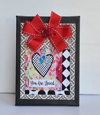 """Mixed Media Art, Collage Art, Mother's Day Gift Or Birthday Gift, 5x7 """" Canvas."""