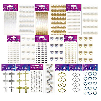 Self Adhesive Sheet Craft Diamante Rhinestone Stick on Crystals Gems Stickers