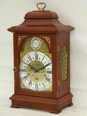 Grand Large Urgos Mahogany 3 Tune Triple Westminster Chime Bracket Mantle Clock