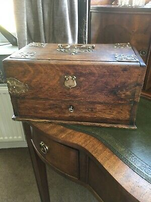 Victorian Oak Jewelry / Vanity Box