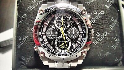 Bulova Precisionist 96B175 Men's Wrist Watch - Silver