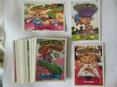 Trashcan Trolls, Topps Stickers, 1992, Like GARBAGE PAIL KIDS, 43 of 44 stickers