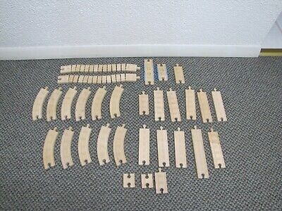 Authentic Thomas & Friends Wooden Railway Track Lot - 30 Total Pieces (Various)