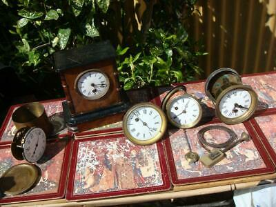 Vintage French   Mantle clock parts For Restoration Spare Or Repair
