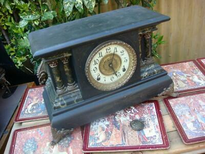 Vintage  Mantle  Clock Slippery Spring  selling for Spare Or Repair