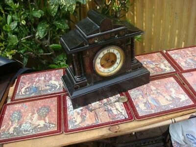 Vintage French   Mantle clock missing  parts For Restoration Spare Or Repair